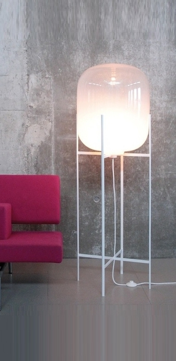 Lampadaire oda big blanc h140cm normal