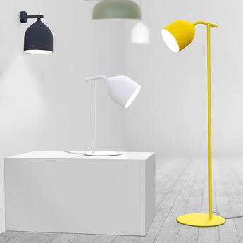 Lampadaire odile jaune o20cm h138cm lumen center italia normal