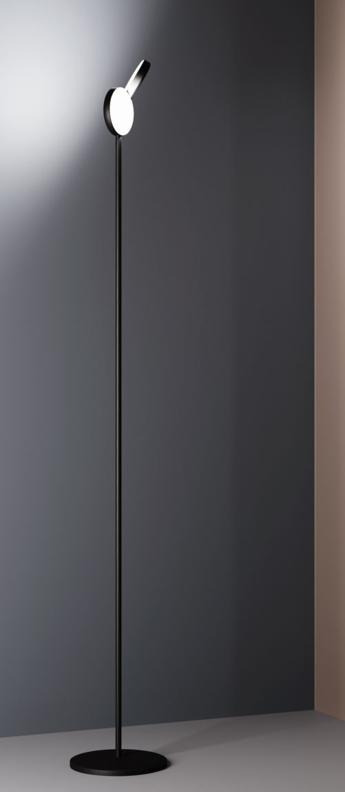 Lampadaire optunia marron sombre led l26 3cm h192 7cm fontana arte normal