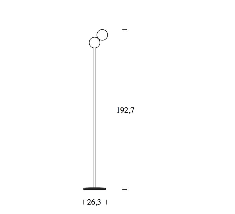 Optunia claesson koivisto rune lampadaire floor light  fontanaarte 4379oc   design signed 39333 product