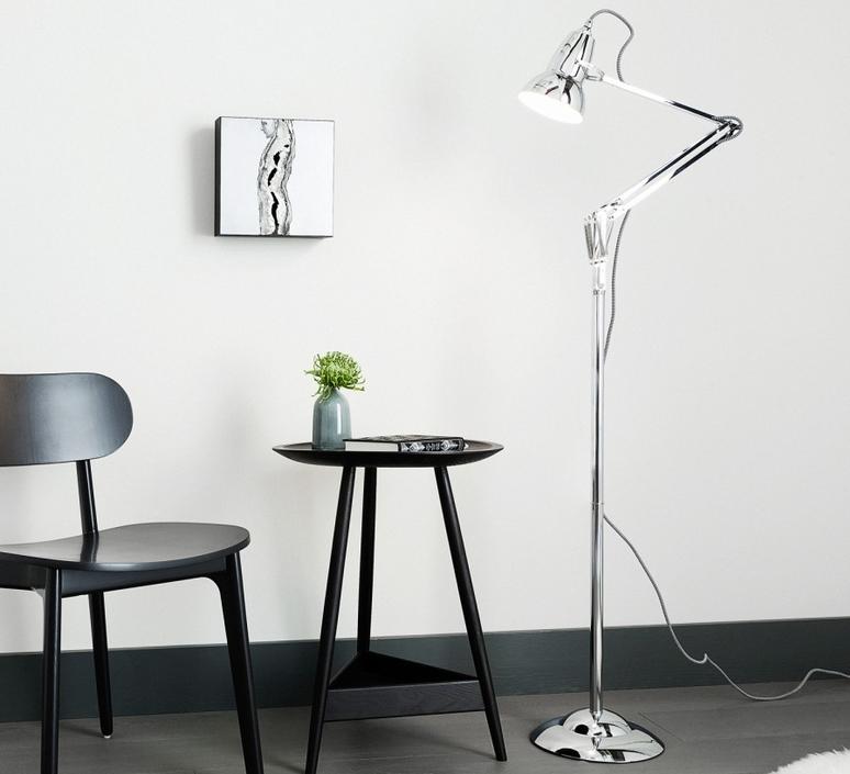 lampadaire original 1227 chrome h153cm anglepoise luminaires nedgis. Black Bedroom Furniture Sets. Home Design Ideas