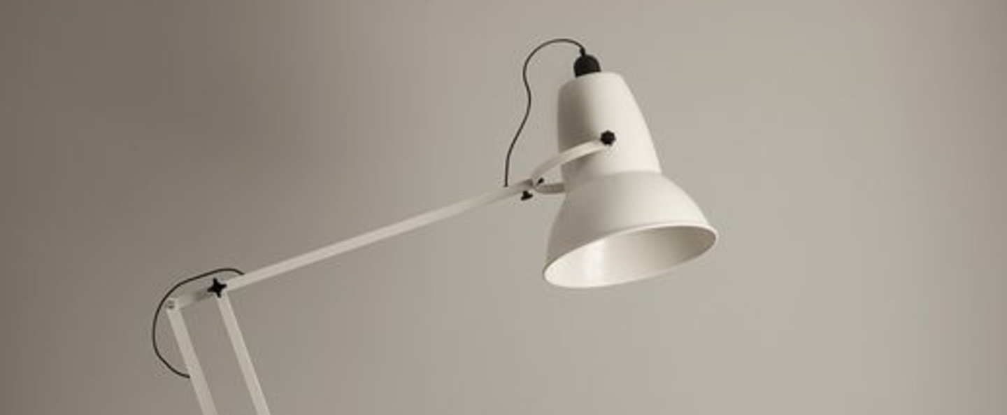 Lampadaire original 1227 giant blanc h181cm - Luminaire industriel la giant collection par anglepoise ...
