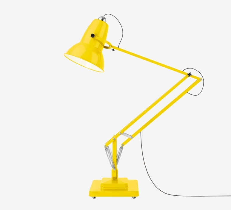 Lampadaire original 1227 giant jaune citron h181cm - Luminaire industriel la giant collection par anglepoise ...