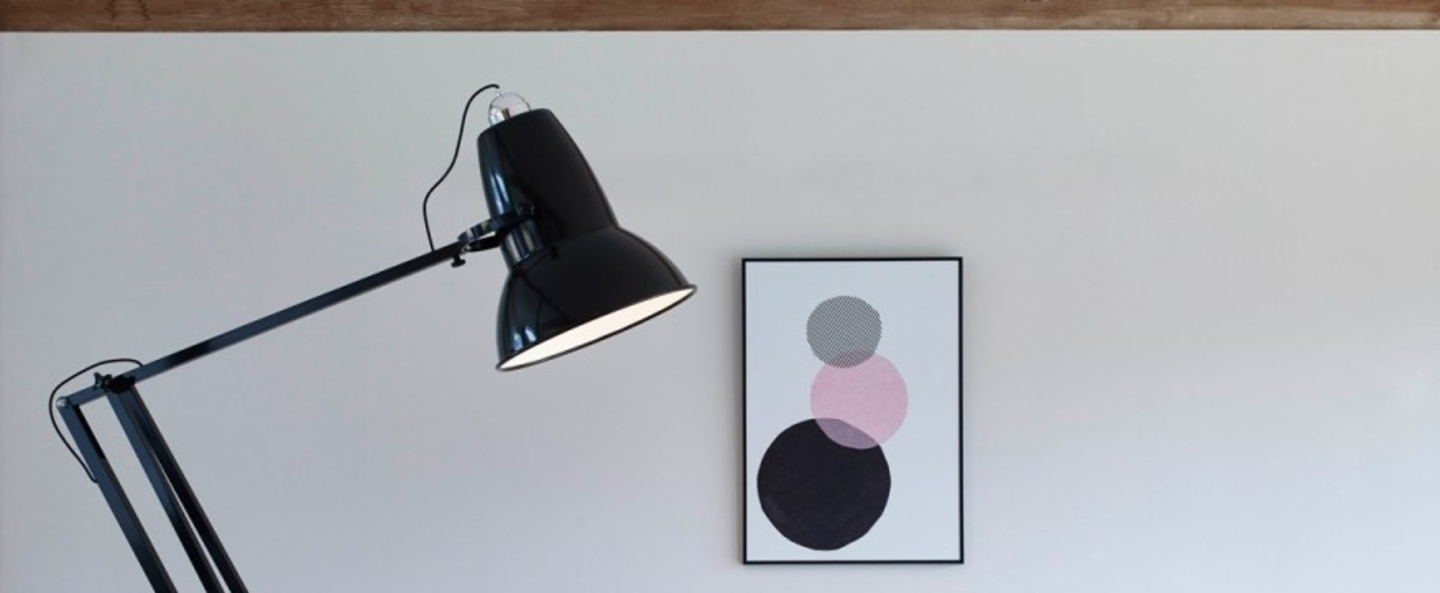 Lampadaire original 1227 giant noir h184cm anglepoise - Luminaire industriel la giant collection par anglepoise ...