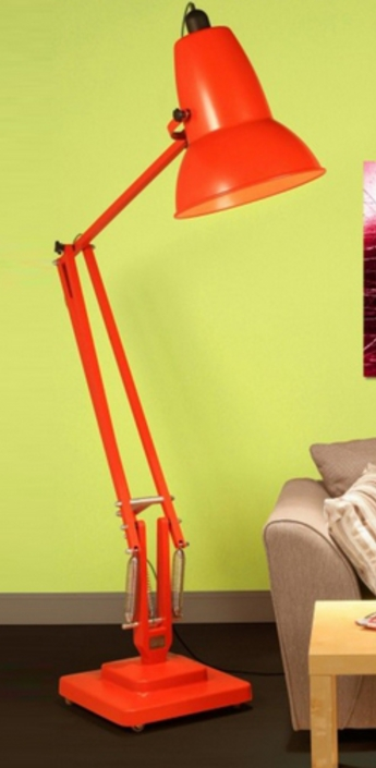 Lampadaire original 1227 giant orange h181cm anglepoise normal