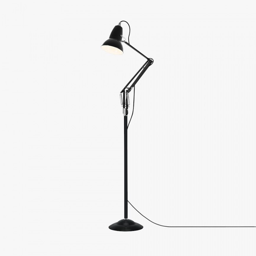 lampadaire original 1227 noir led 15cm h154cm anglepoise luminaires nedgis. Black Bedroom Furniture Sets. Home Design Ideas