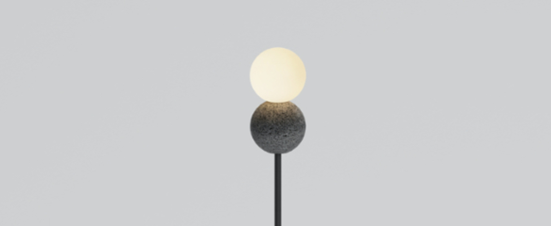 Lampadaire origo noir l25cm h135cm david pompa normal