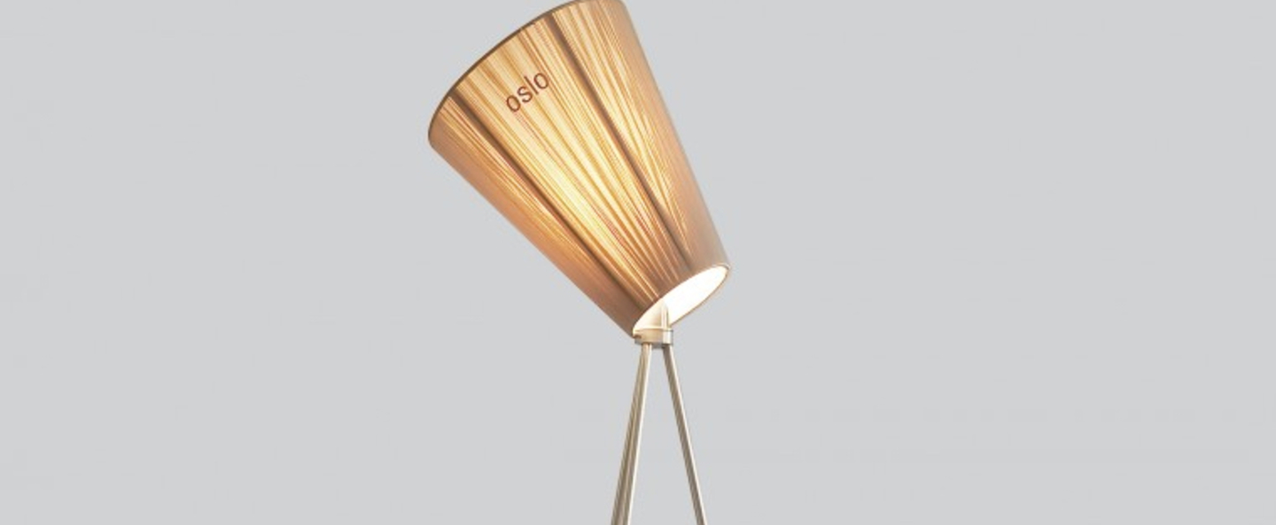 Lampadaire oslo wood beige acier h165cm northern lighting normal