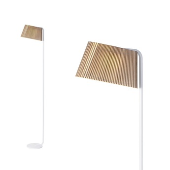 Lampadaire owalo 7010 bois marron led l39cm h168cm secto design normal