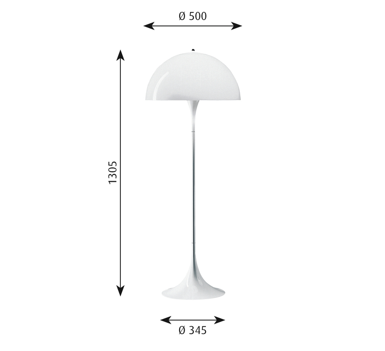 Panthella  verner panton lampadaire floor light  louis poulsen 5744163350  design signed 48999 product