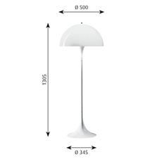 Panthella  verner panton lampadaire floor light  louis poulsen 5744163350  design signed 48999 thumb