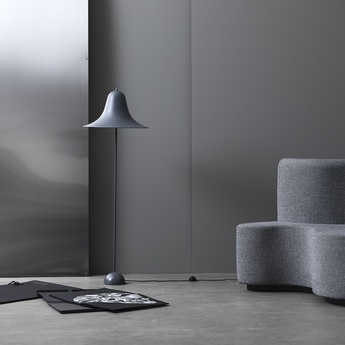 Lampadaire pantop gris o45cm h132 5cm verpan normal