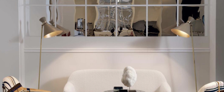 Lampadaire peggy blanc l42cm h160cm gong normal