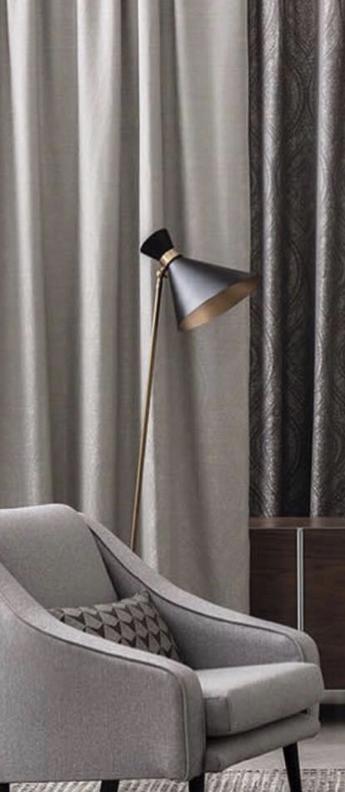 Lampadaire peggy noir l42cm h160cm gong normal