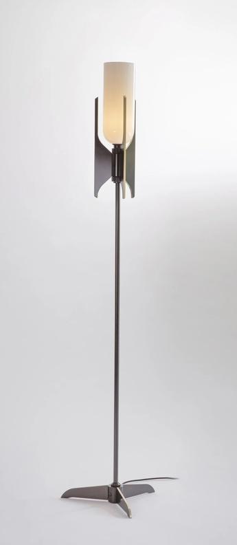 Lampadaire pennon bronze blanc o38cm h141cm bert frank normal