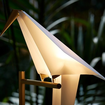 Lampadaire perch light floor blanc or h164cm moooi normal