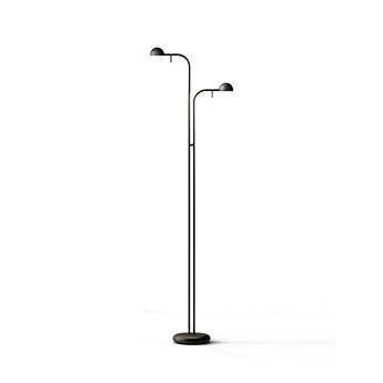Lampadaire pin 1665 noir led 2700k 905lm o35cm h125cm vibia normal