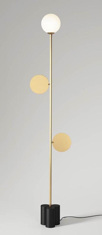 Lampadaire plates laiton o20cm h150cm atelier areti normal