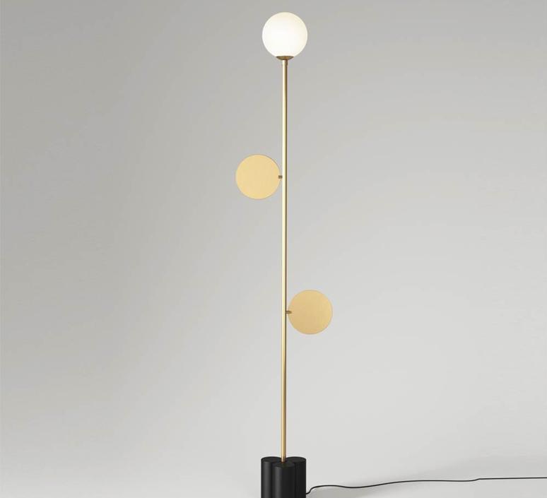 Plates gwendolyn et guillane kerschbaumer lampadaire floor light  atelier areti plates floor lamp black  design signed 36053 product