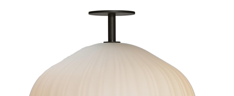 Lampadaire plissee bronze o40cm h92cm classicon normal