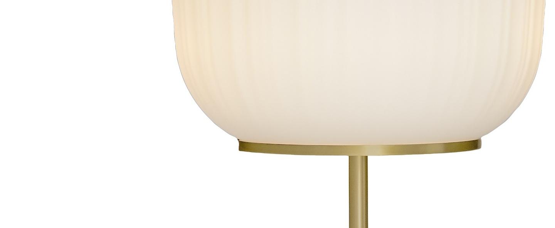 Lampadaire plissee laiton o40cm h92cm classicon normal