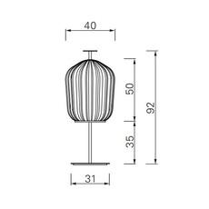 Plissee sebastian herkner lampadaire floor light  classicon plissee black  design signed nedgis 90955 thumb