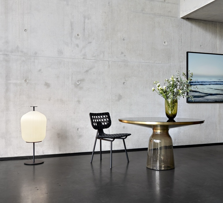 Plissee sebastian herkner lampadaire floor light  classicon plissee black  design signed nedgis 90964 product