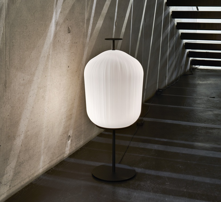 Plissee sebastian herkner lampadaire floor light  classicon plissee black  design signed nedgis 90967 product