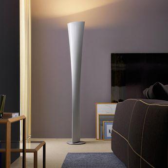 Lampadaire polaris blanc h190cm o30cm fontana arte normal