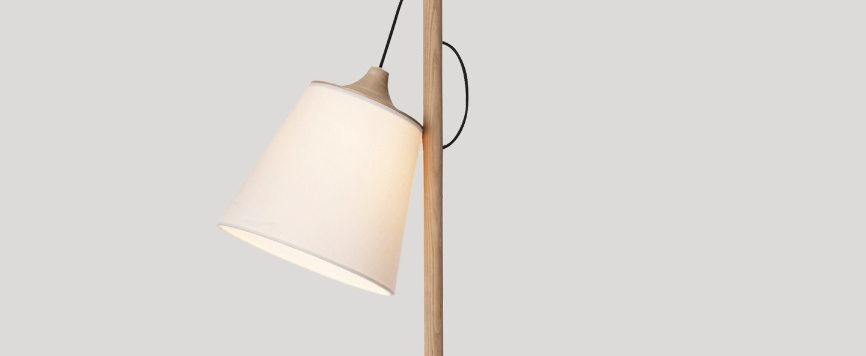 Lampadaire pull blanc chene h150cm o31 5cm muuto normal