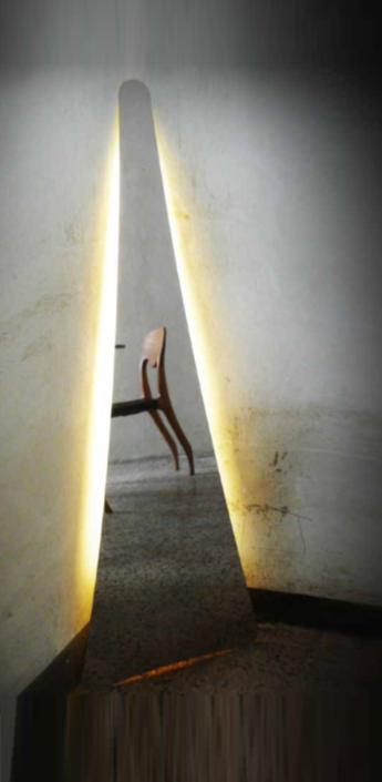 Lampadaire punctum miroir h117cm led slamp normal