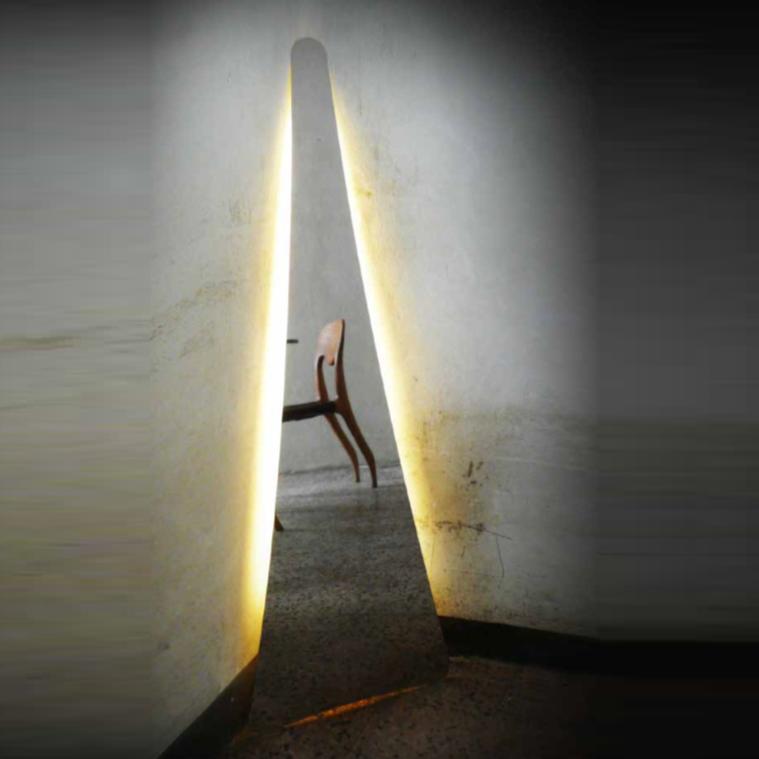 Floor light Punctum mirror H117cm LED Slamp Nedgis Lighting