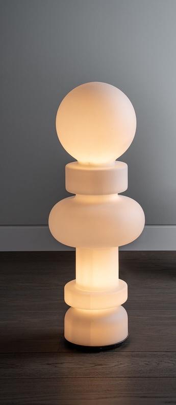 Lampadaire re blanc led 3000k 4800lm o34cm h89cm fontana arte normal
