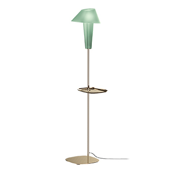 Lampadaire rever 1 0 large the vert et or clair o30cm h149 5cm wever ducre normal