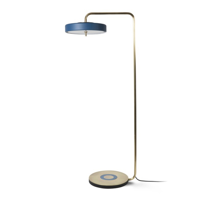 Revolve  lampadaire floor light  bert frank revolve floor lamp blue  design signed 36011 product