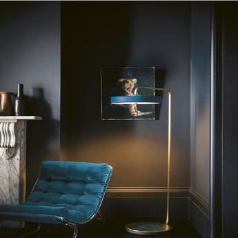 Lampadaire revolve bleu led o35cm h140cm bert frank normal