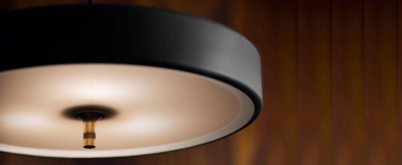 Lampadaire revolve noir et or led o35cm h140cm bert frank normal