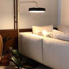 Revolve  lampadaire floor light  bert frank revolve floor lamp black  design signed 94415 thumb