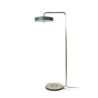 Lampadaire revolve vert led o35cm h140cm bert frank normal