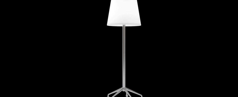 Lampadaire roller lamp blanc h203cm slide normal