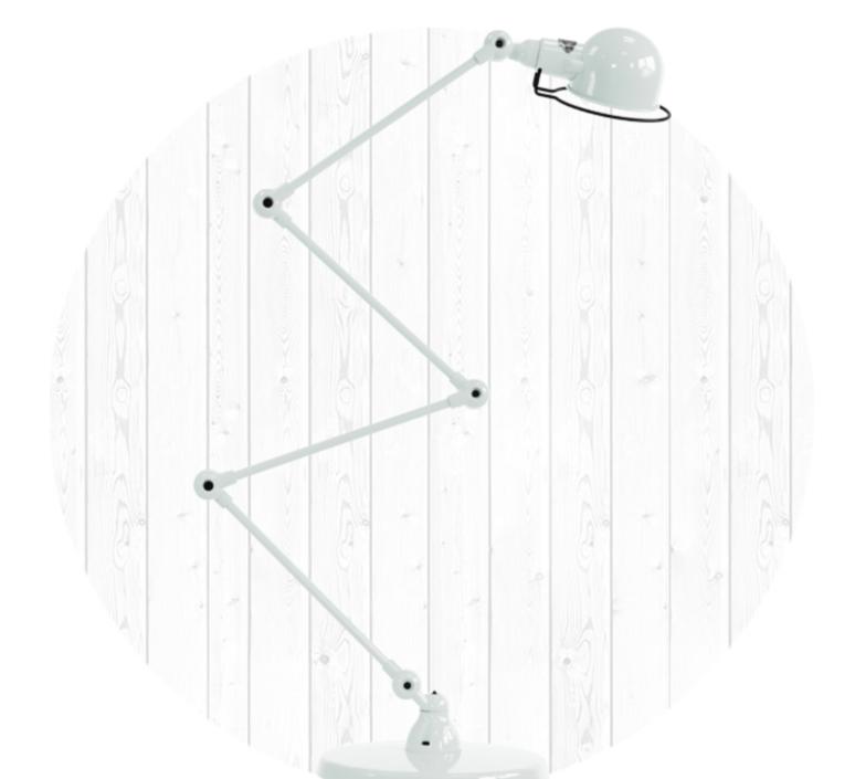 Signal 4 bras jean louis domecq lampadaire floor light  jielde si433 blc  design signed 35700 product