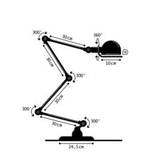 Signal 4 bras jean louis domecq lampadaire floor light  jielde si433 blc  design signed 35706 thumb