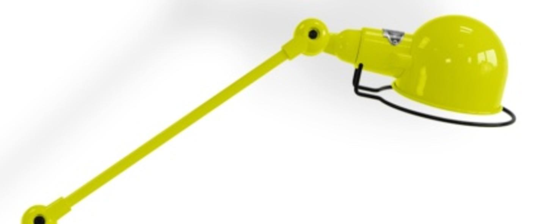 Lampadaire signal 4 bras jaune o24 5cm h120cm jielde normal