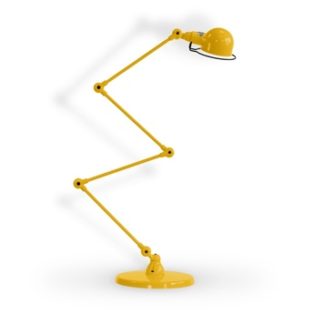 Lampadaire signal 4 bras moutarde o24 5cm h120cm jielde normal