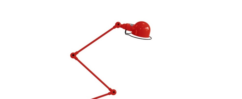 Lampadaire signal 4 bras si433 rouge o24 5cm h120cm jielde normal