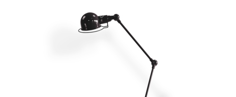 Lampadaire signal si833 noir brillant o24 5cm h110cm jielde normal