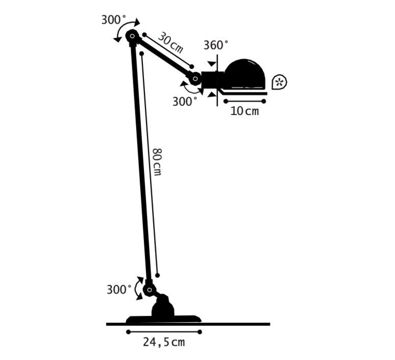 Signal si833 jean louis domecq lampadaire floor light  jielde si833nob  design signed nedgis 117524 product