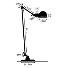Signal si833 jean louis domecq lampadaire floor light  jielde si833nob  design signed nedgis 117524 thumb