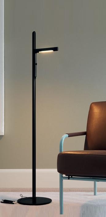 Lampadaire siptel led noir h135cm fontana arte normal