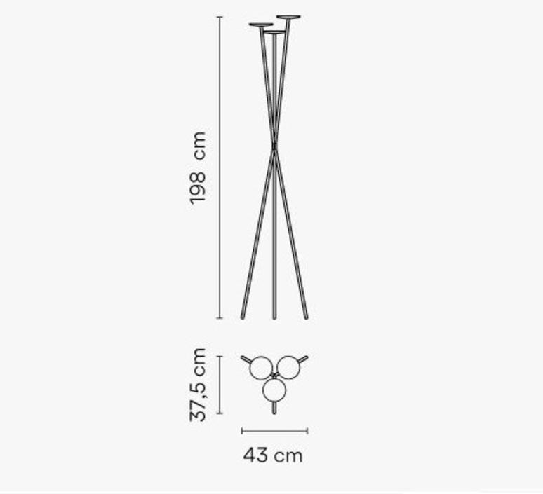Bamboo 4812 antoni arola lampadaire d exterieur outdoor floor light  vibia 481258 1  design signed nedgis 81412 product